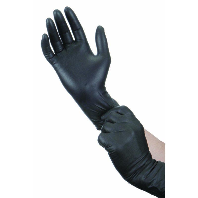 LAB+ Перчатки нитриловые неопудренные текстурированные черные
