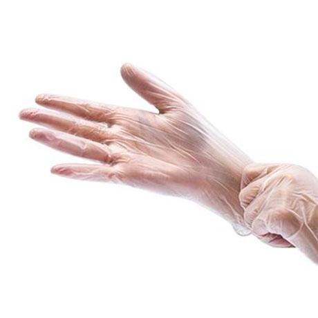 Перчатки виниловые Benovy неопудренные бесцветные