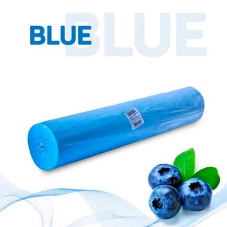 Простыни в рулоне голубые с перфорацией