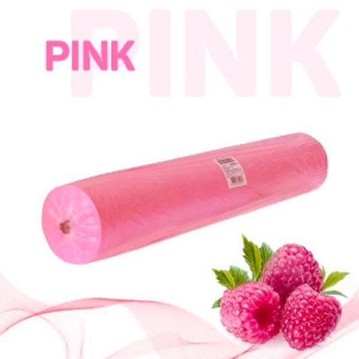 Простыни Standart Plus в рулоне розовые 17 г/м2 (80*200)