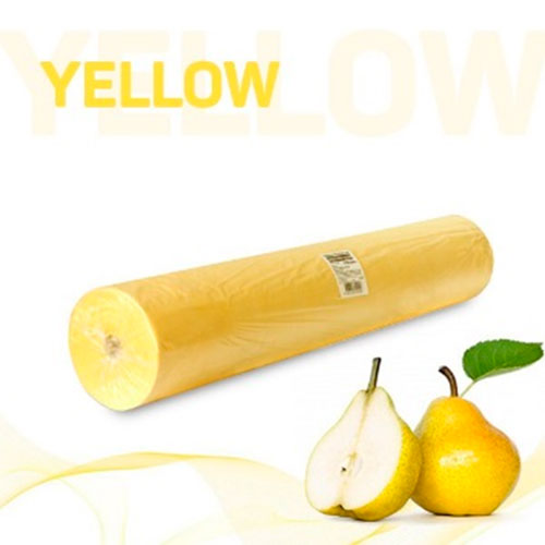 Простыни в рулоне желтые с перфорацией