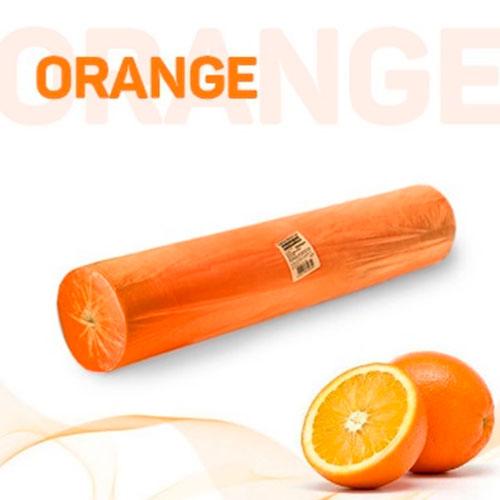 Простыни в рулоне оранжевые с перфорацией