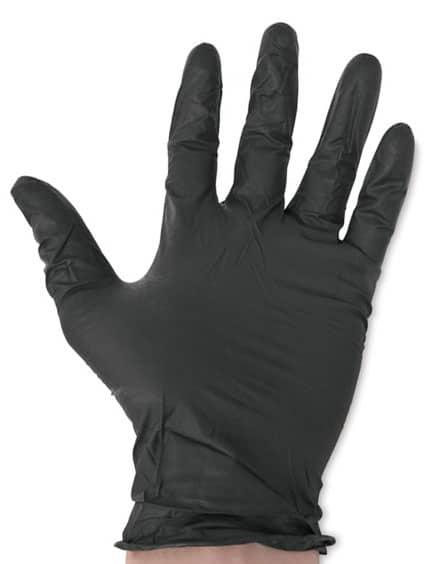 Перчатки виниловые ViniMax неопудренные черные