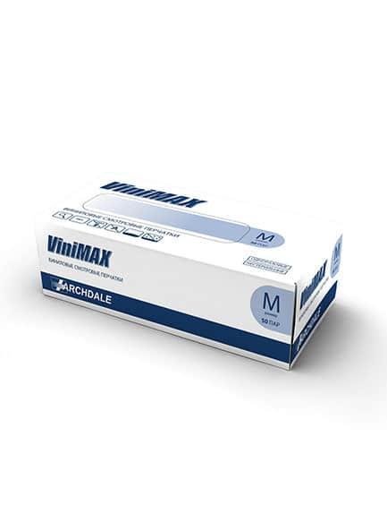 Перчатки ViniMax виниловые голубые