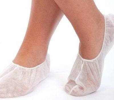 Носки одноразовые из спанбонда, белые