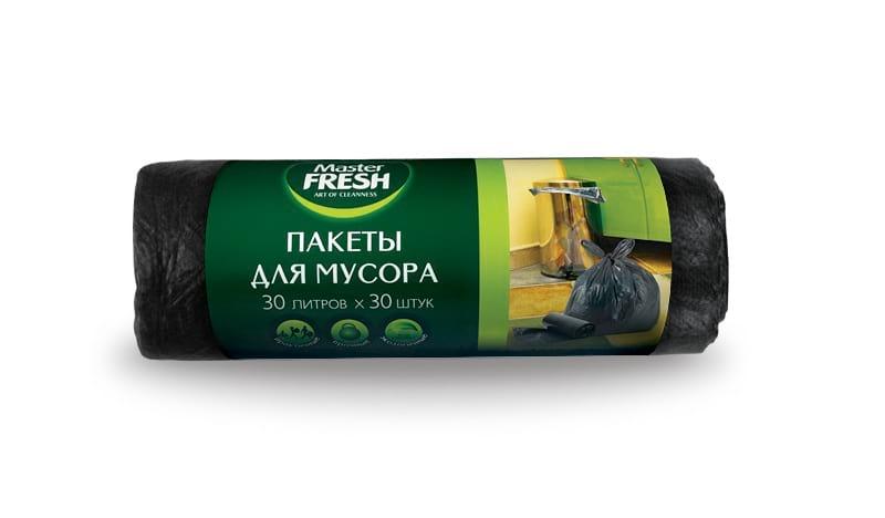 Master FRESH пакеты для мусора (30 литров, 30 шт.)
