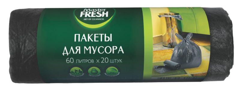 Master FRESH пакеты для мусора 60 л. (20 шт.)
