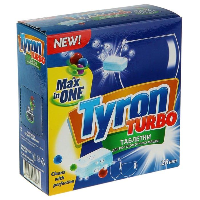 """TYRON Таблетки для посудомоечных машин """"Max in 1"""" (в упаковке 28 шт.)"""