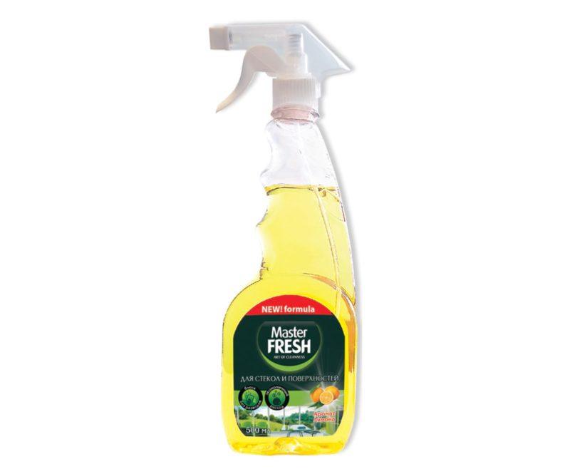 Master FRESH Средство для стекол и поверхностей Аромат лимона 500 мл.