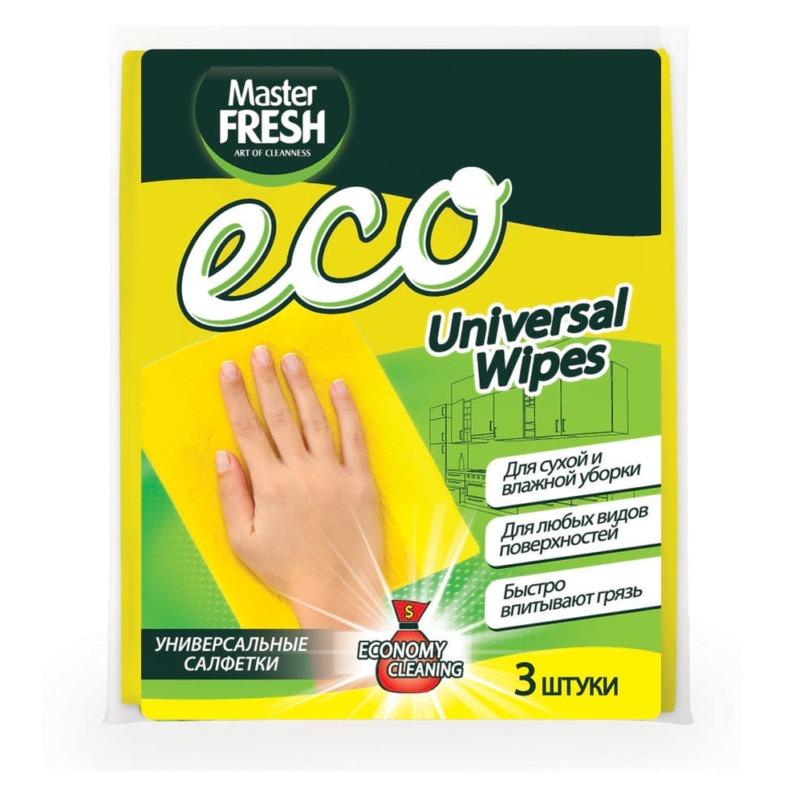 Master FRESH ЭКО Универсальные салфетки для уборки, 3 шт.