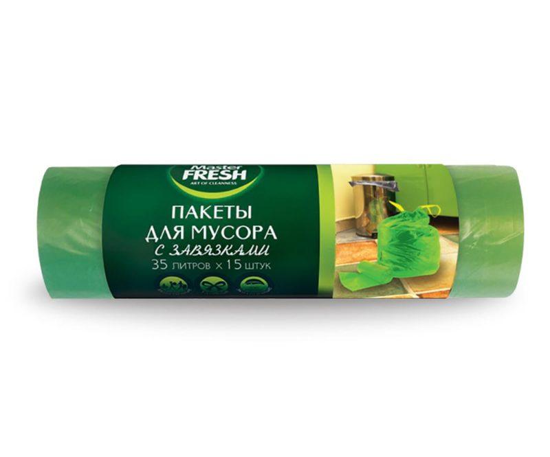 Master FRESH пакеты для мусора с завязками 35 л. (15 шт.)