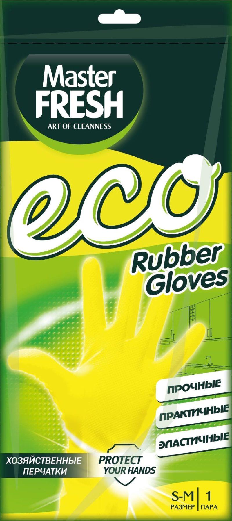 Master FRESH ЭКО хозяйственные перчатки 1 пара (средний размер S/M)