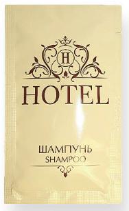 Шампунь «HOTEL» в индивидуальной упаковке, 10 мл.