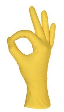 MediOk Перчатки нитриловые неопудренные желтые, 50 пар/уп.
