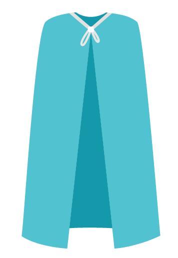 Накидка для посетителя (спандбонд) 160*110 см