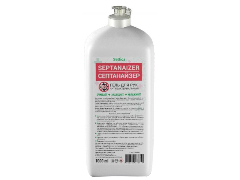 Settica Septanaizer Антисептическое средство для обработки рук, 1 л.