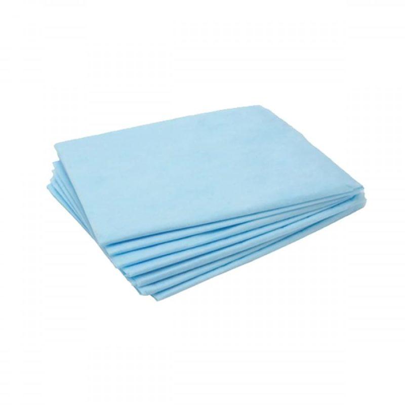 Простыни 80*200 в сложении голубые, 25 шт.
