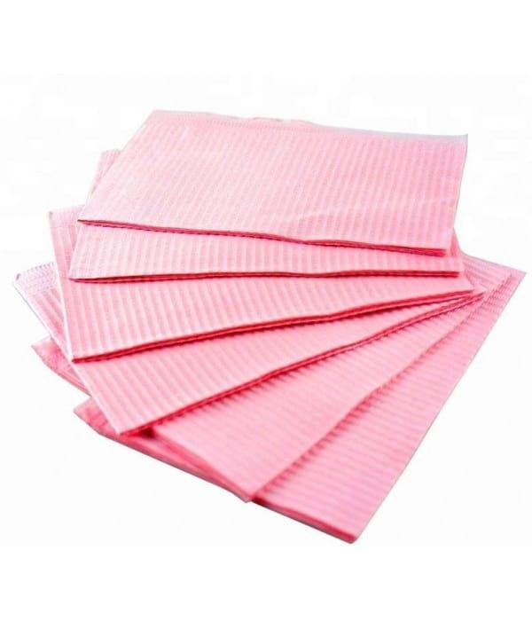 Салфетки ламинированные Euro Standart 33*45 розовые