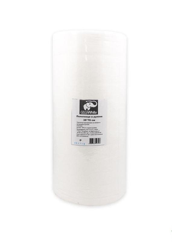 Полотенца в рулоне EleWhite, 35*70 см, белый спанлейс