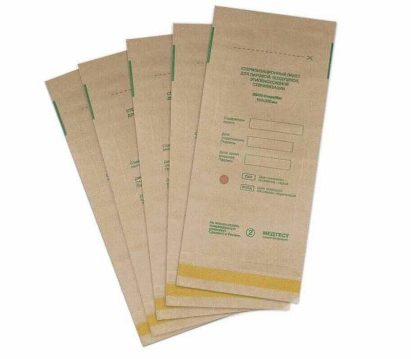 Крафт пакет бумажный самоклеящийся плоский ПБСП-СТЕРИМАГ