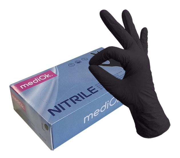 MediOk Перчатки нитриловые неопудренные черные (50 пар)