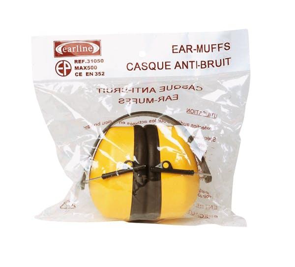 Наушники МАХ 500 складные 30 дБ, желтые, в индивидуальной упаковке
