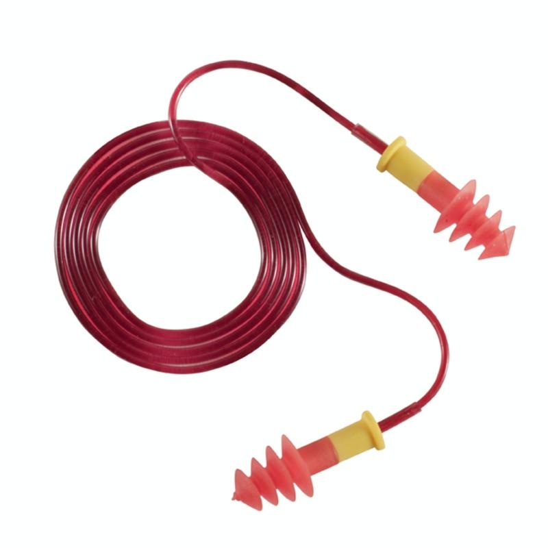 Беруши BUP на шнуре многоразовые красные SNR (акустическая эффективность) – 29 дБ