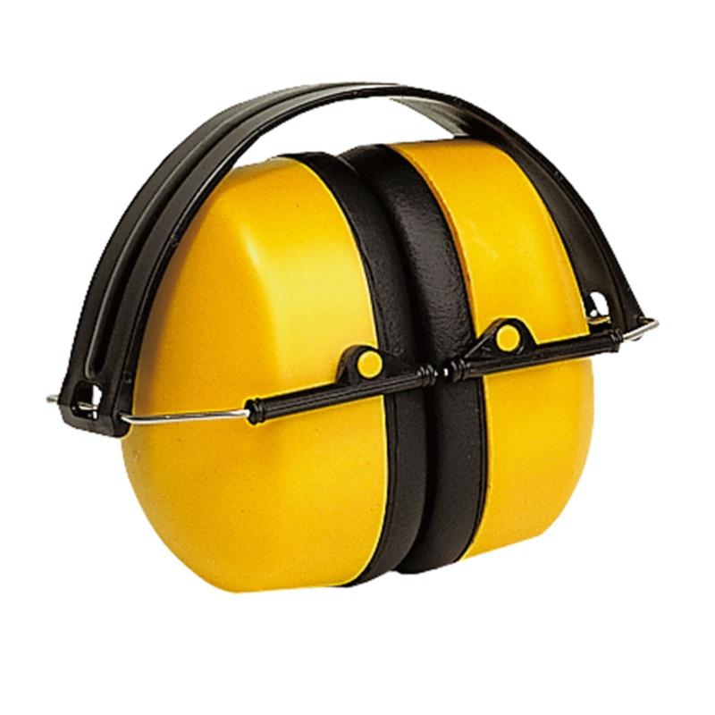 Наушники МАХ 500, складные, 30 дБ, желтые, в индивидуальной упаковке