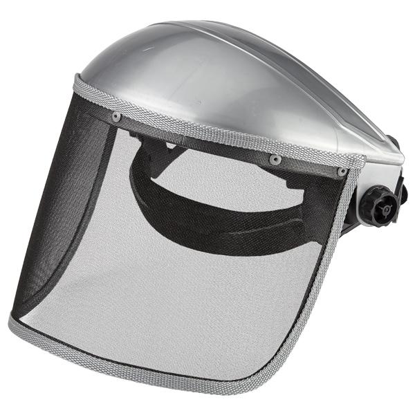 Щиток защитный лицевой «Исток» экран стальная сетка реечный механизм