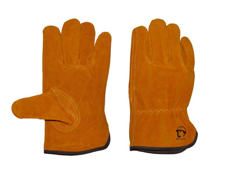 Перчатки «драйвер люкс» (жёлтые)