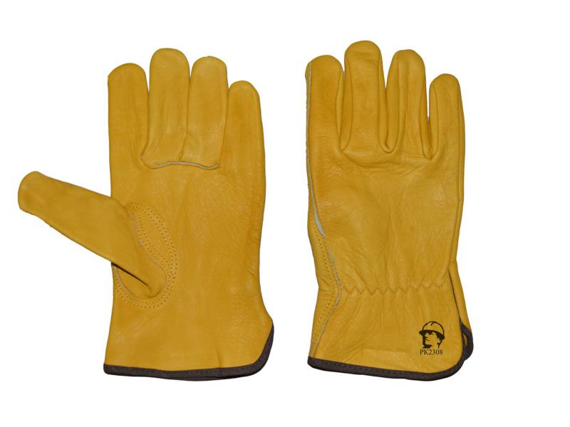 Перчатки «драйвер» из кожи