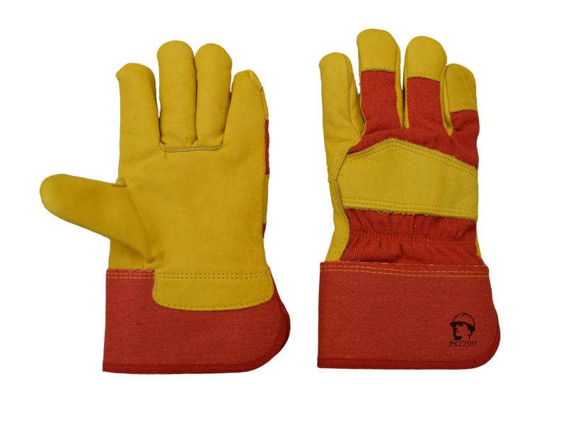 Перчатки «Русский лев» кожаные (утеплённые)