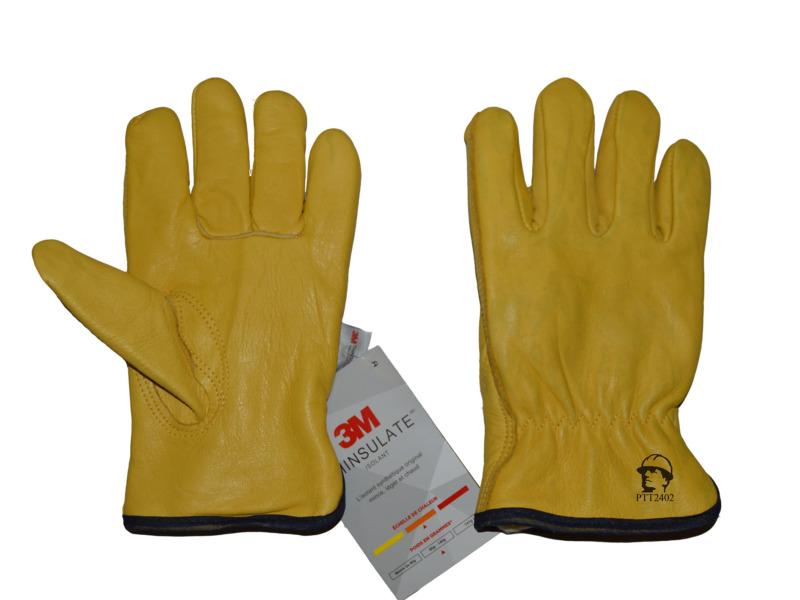 Перчатки «драйвер» из кожи (утеплённые)
