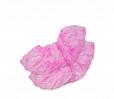 Носки EleGreen розовые. Одноразовые из спанбонда, инд. упаковка, размер L.