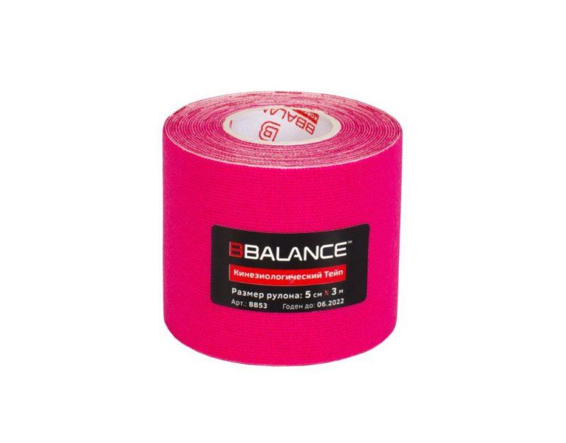 Кинезио тейп BBTape™ 5см × 3м розовый