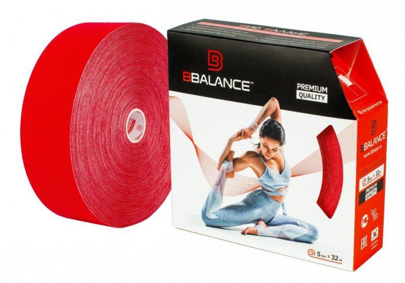 Кинезио тейп BBTape™ 5см × 32м красный