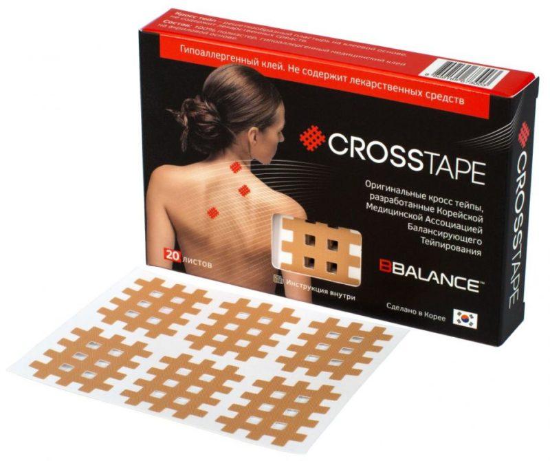 Кросс тейпы BB CROSS TAPE™ 2,8 см x 3,6 см (размер B) бежевый