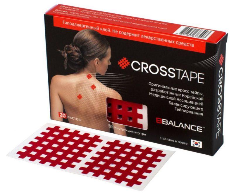 Кросс тейпы BB CROSS TAPE™ 4,9 см x 5,2 см (размер С) красный