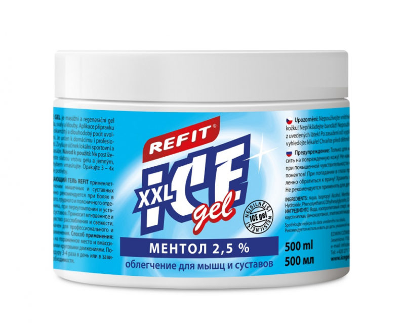 Охлаждающий гель Refit Ice Gel Ментол 2,5% (500 мл)