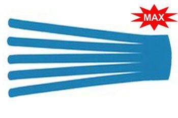 Кинезио тейп преднарезанный BB EDEMA STRIP МАХ 10 cм x 25 см голубой