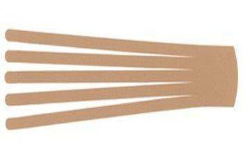 Кинезио тейп преднарезанный BB EDEMA STRIP 10 cм x 25 см бежевый