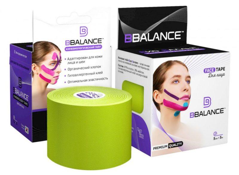Тейп для лица BB FACE TAPE™ 5 см × 5 м хлопок лайм