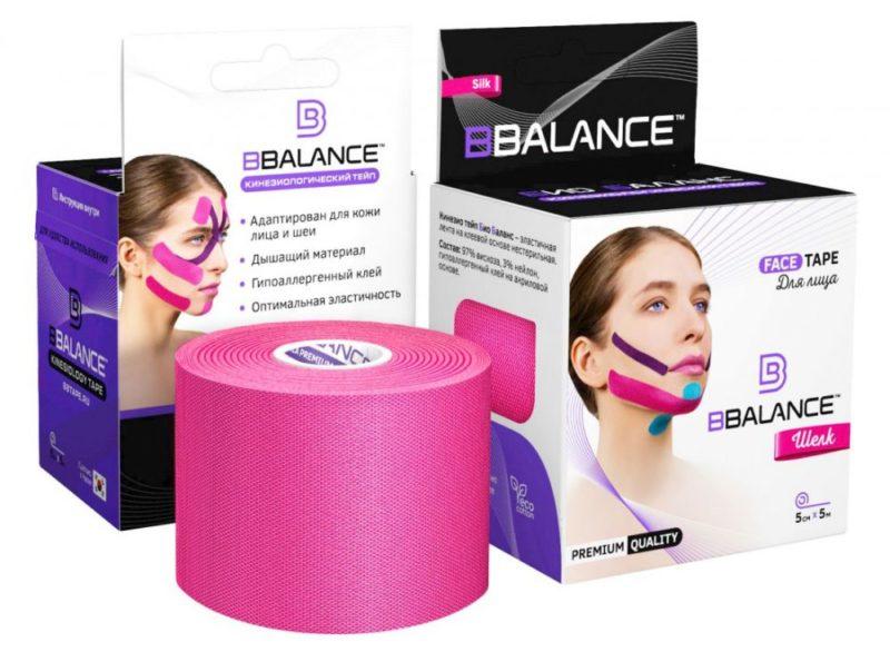 Тейп для лица BB FACE TAPE™ 5 см × 5 м шелк розовый