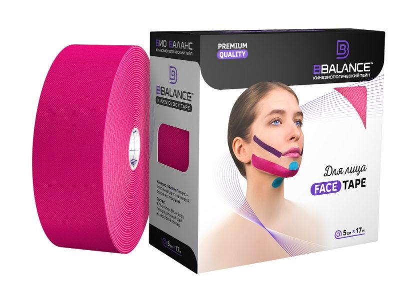Тейп для лица BB FACE TAPE™ 5 см × 17 м хлопок розовый