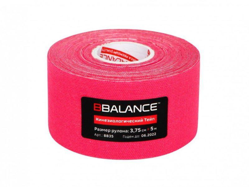 Кинезио тейп BBTape™ 3,75см × 5м розовый