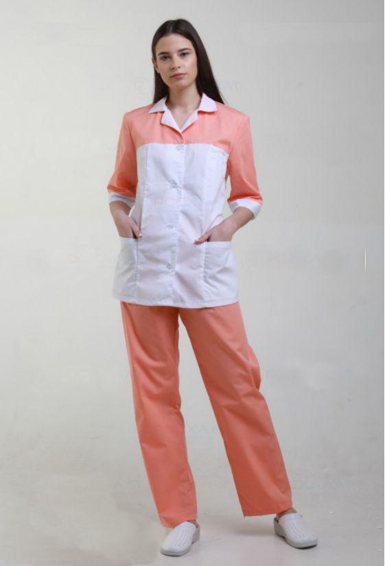 Костюм медицинский приталенного силуэта куртка+брюки